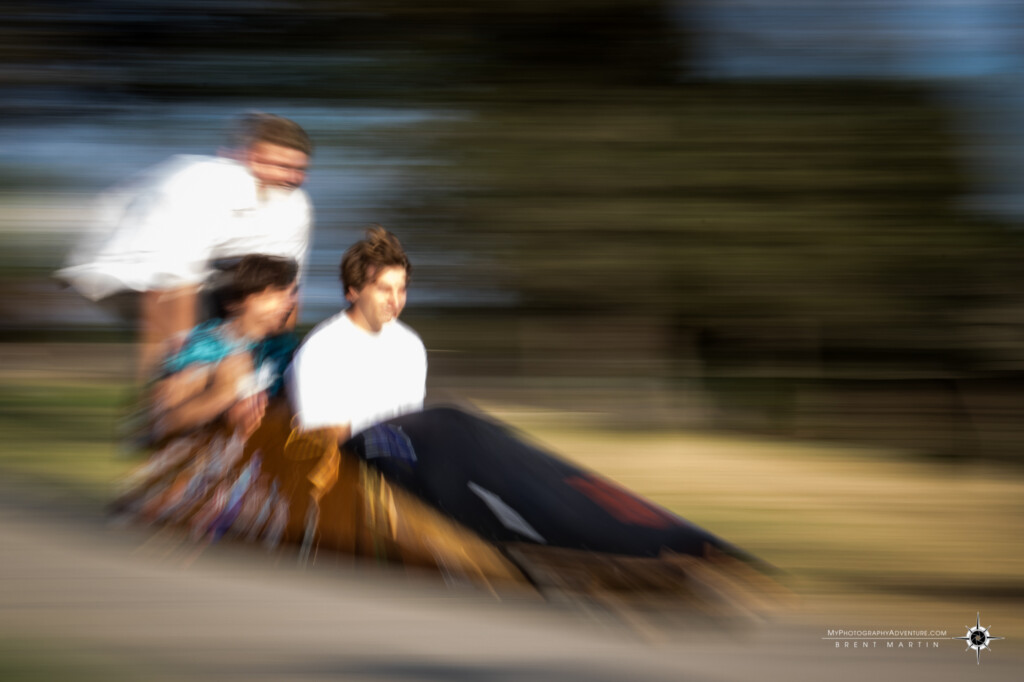 Zoom and panning blur